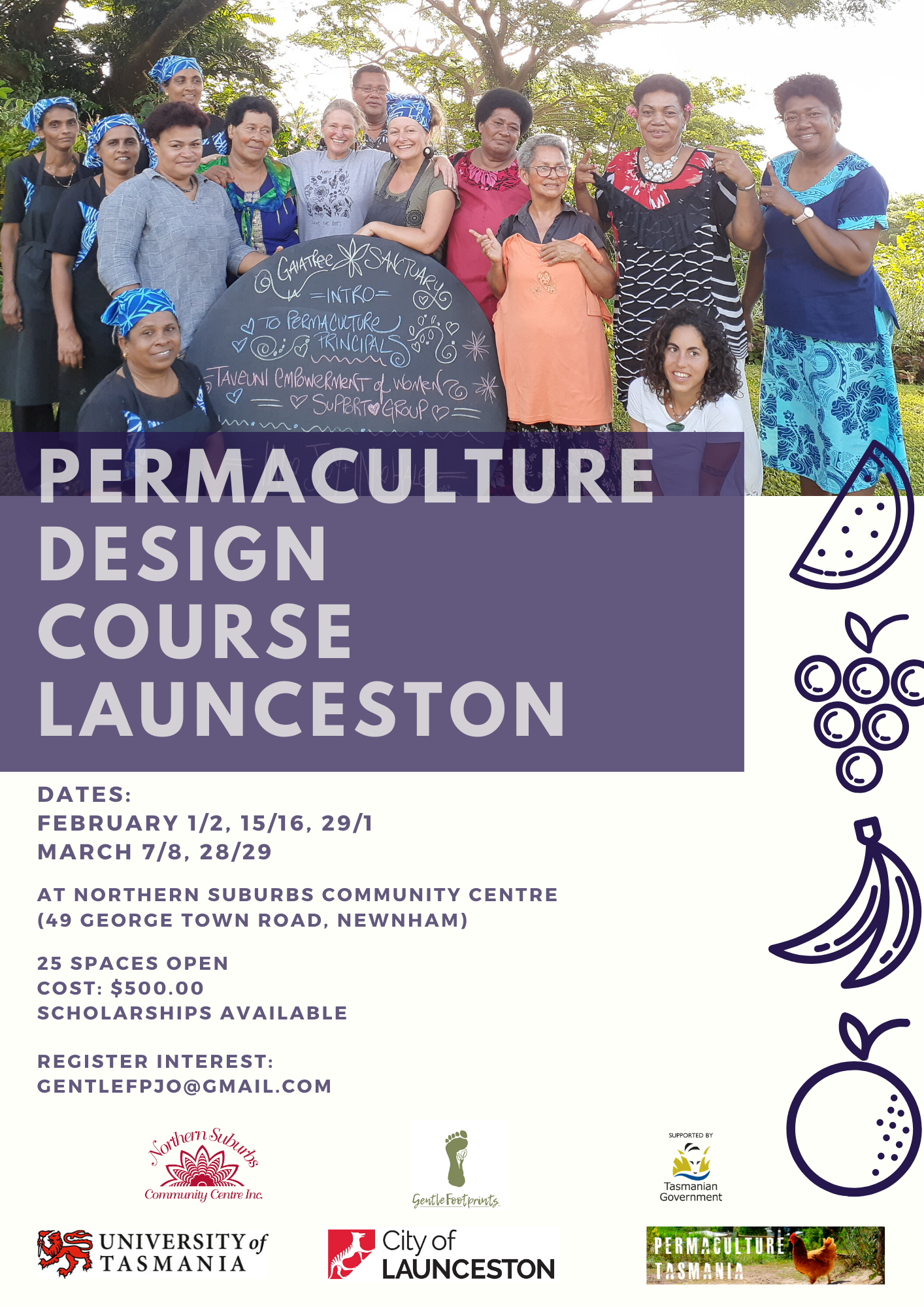 Launceston Permaculture Design Course (10 days over 5 weekends) @ Northern Suburbs Community Centre