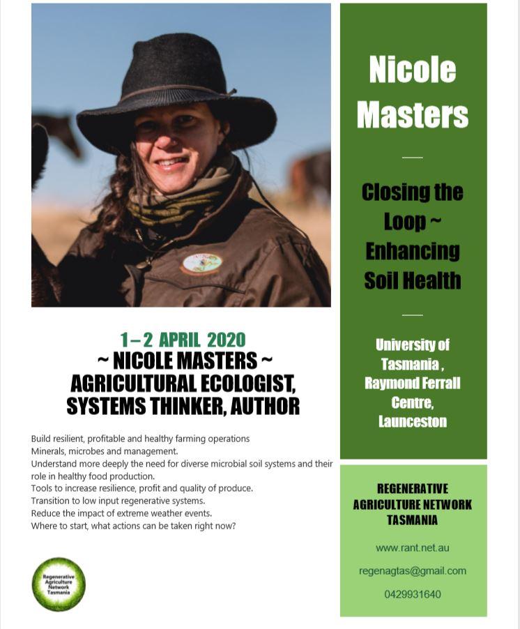 Nicole Masters: Closing the Loop ~ Enhancing Soil Health @ Raymond Ferrall Centre